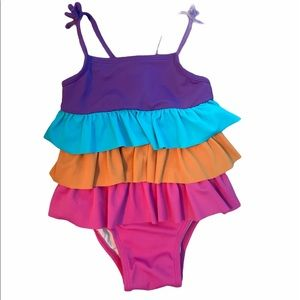 ✨3 for $30✨Baby Girls One Piece Ruffle Swimsuit